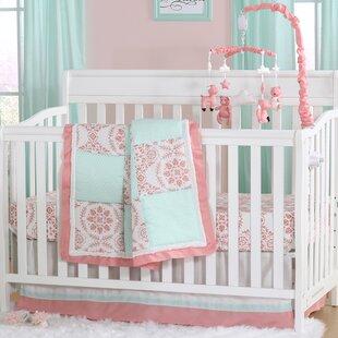 Affordable Price Pretty Patch Medallion 6 Piece Crib Bedding Set ByThe Peanut Shell