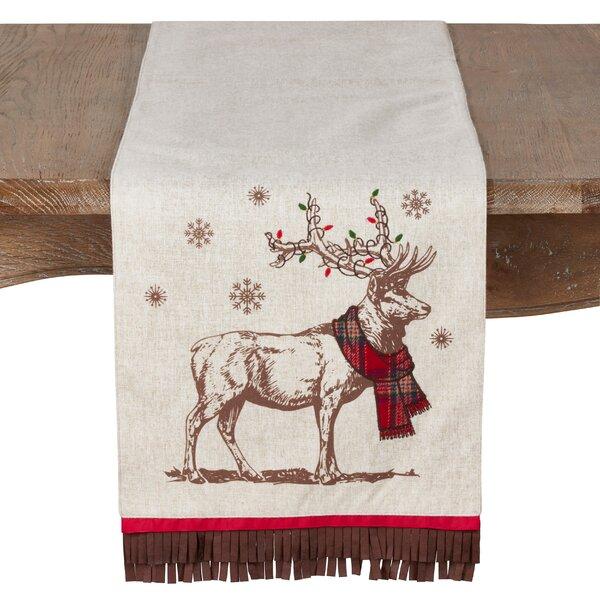 Beach Christmas Reindeer Table Runner by The Holiday Aisle