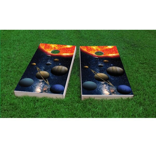 Solar System Light Weight Cornhole Game Set by Custom Cornhole Boards