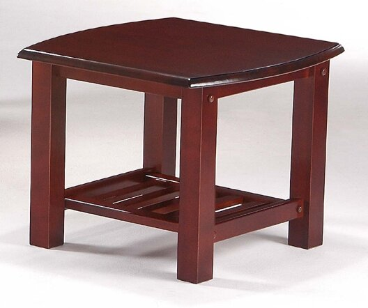 Barb End Table in Rosewood by Charlton Home