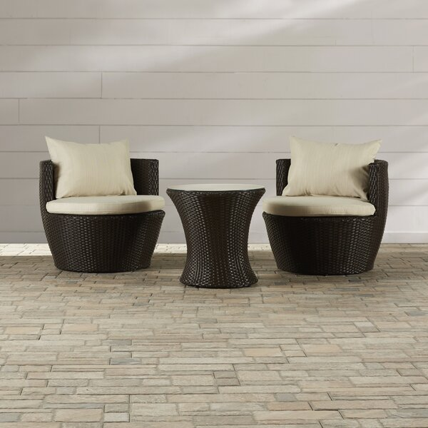 Collingswood 3 Piece Seating Group with Cushions by Mercury Row