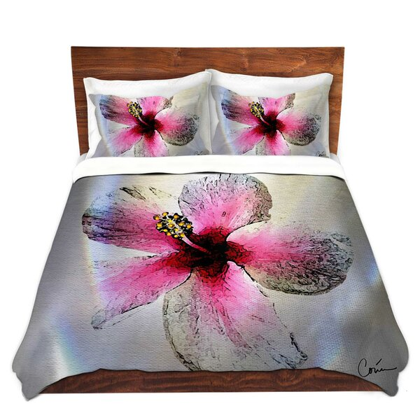 Shute Corina Bakke Hibiscus Microfiber Duvet Covers by Ebern Designs