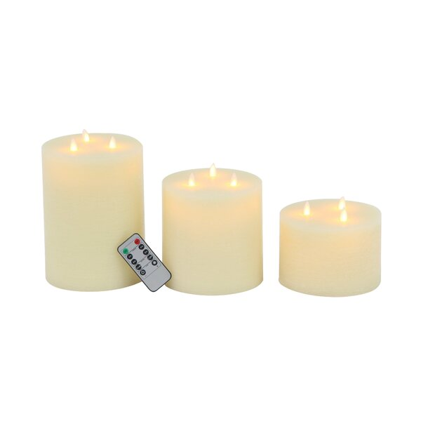 Modern Wax 3 Piece Flicker Flameless Candle Set by 17 Stories