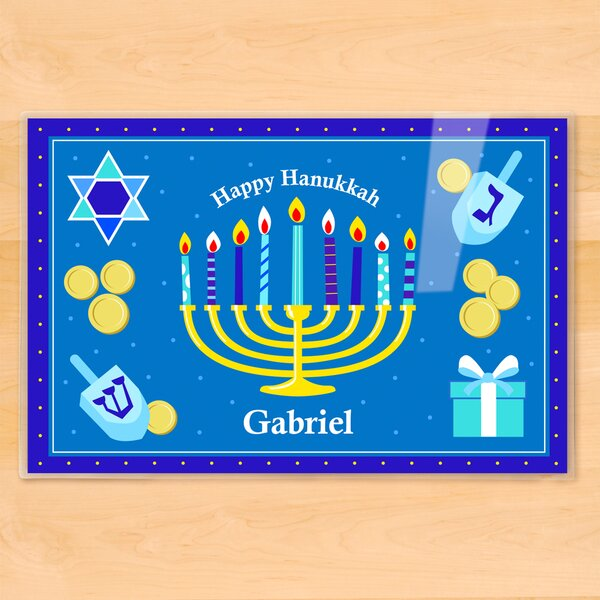 Hanukkah Personalized Placemat by Olive Kids