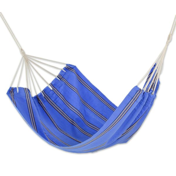 Double Person Fair Trade Portable Happy Beach Days' Hand-Woven Central American Acrylic Indoor And Outdoor Hammock by Novica