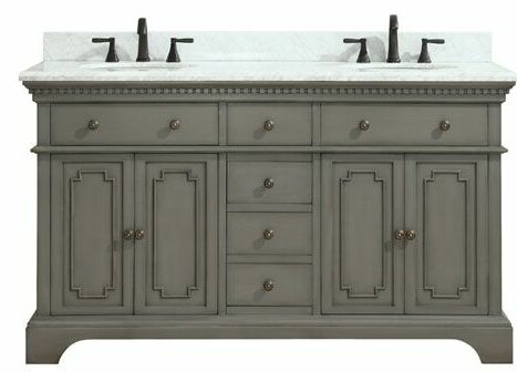 Ruthann Marble Top 61 Double Bathroom Vanity Set b