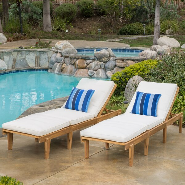 Ardsley Reclining Chaise Lounge with Cushion (Set of 2) by Mercury Row