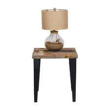 Ochoa Wood and Metal End Table by Union Rustic