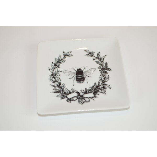 Bee with Laurel Decorative Plate by The French Bee