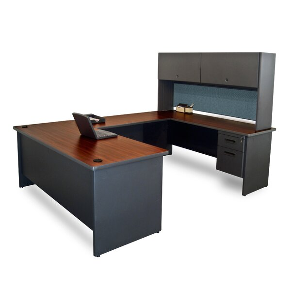 Pronto U-Shape Executive Desk with Hutch by Marvel Office Furniture