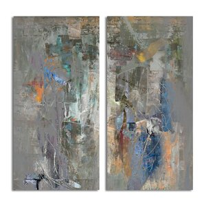 Bueno Exchange LXVIII' 2 Piece Painting Print on Canvas Set by Ready2hangart