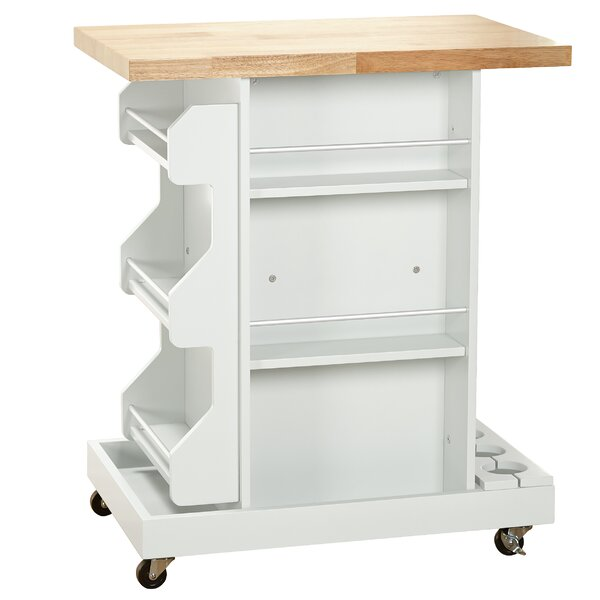 #2 Diaz Kitchen Cart With Wood Top By Mistana Sale