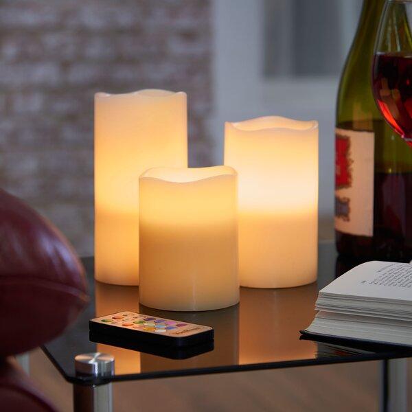 3 Piece Flameless Candle Set By Vonhaus.