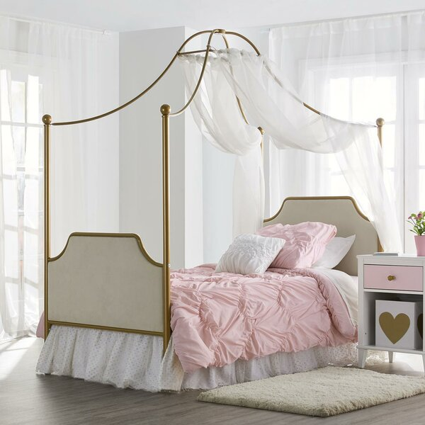 August Twin Canopy Bed by Harriet Bee
