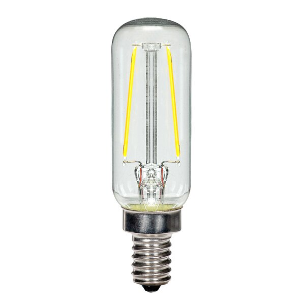 2.5W E12 Candelabra LED Vintage Filament Light Bulb by Satco
