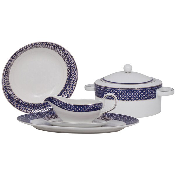 Empire Fine China Special Serving 5 Piece Dinnerware Set by Shinepukur Ceramics USA, Inc.