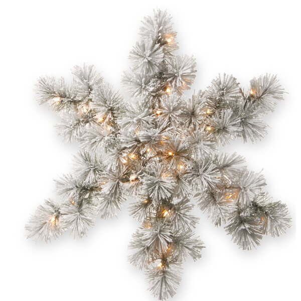Snowy Bristle Pine Snowflake by National Tree Co.