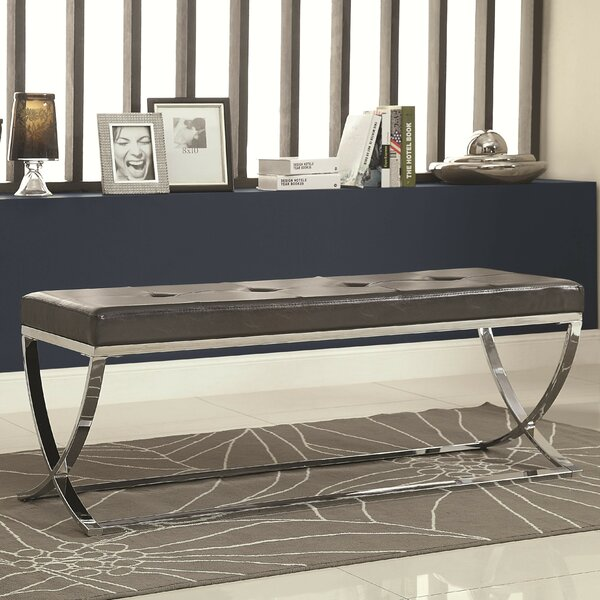 Sheller Leather Bench by Mercer41