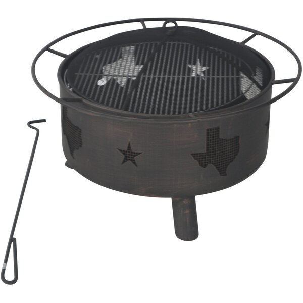 Steel Wood Burning Fire Pit by Bond Manufacturing
