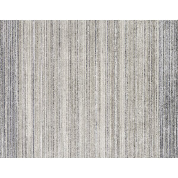 Fienley Hand-Loomed Silver/Blue Area Rug by Ivy Bronx