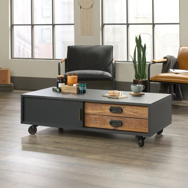 Loehr Coffee Table with Tray Top and Storage by Trent Austin Design