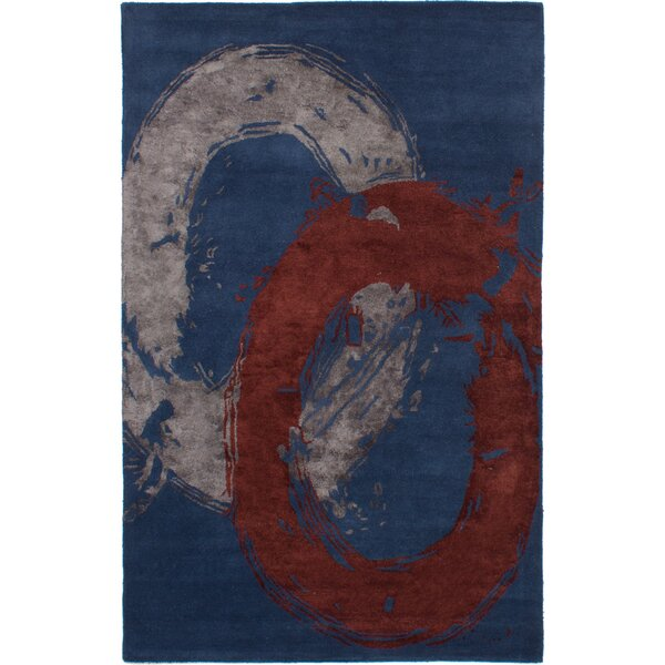 Maclachlan Hand-Tufted Dark Blue Area Rug by Latitude Run