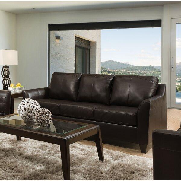Kunzler Leather Sofa Bed by Red Barrel Studio