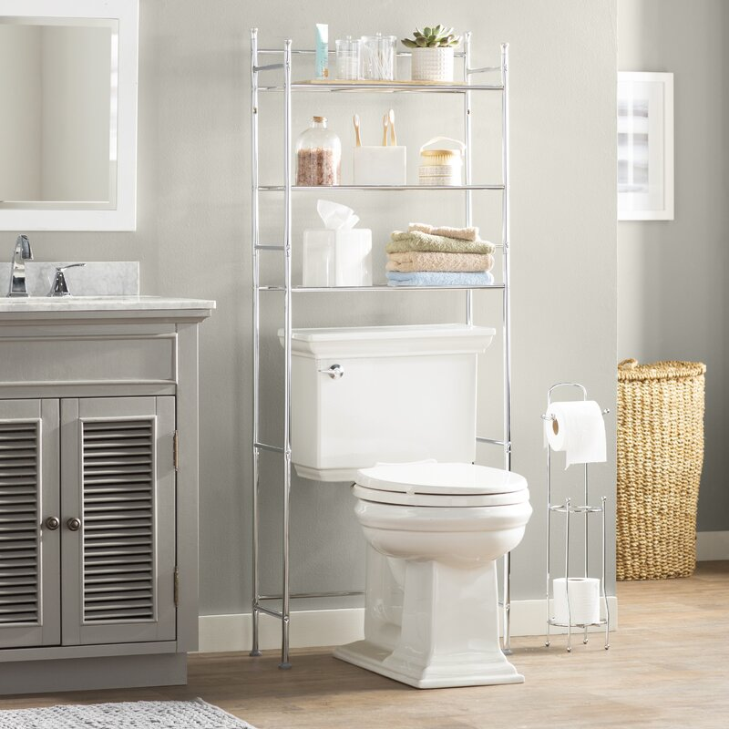 "Bathroom Storage And Shelving wayfair basics™ wayfair basics 22.83"" w x 59.84"" h over the toilet"