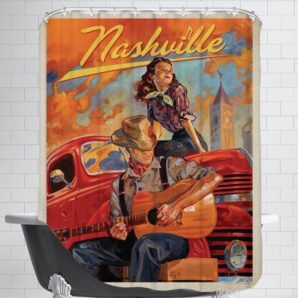 KC NashvilleDreams Shower Curtain by East Urban Home