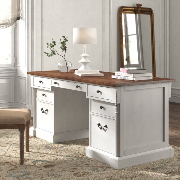 Bransford Executive Desk With White Base