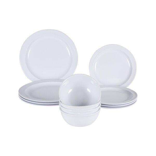 Middleton Melamine 12 Piece Dinnerware Set, Service for 4 by Winston Porter