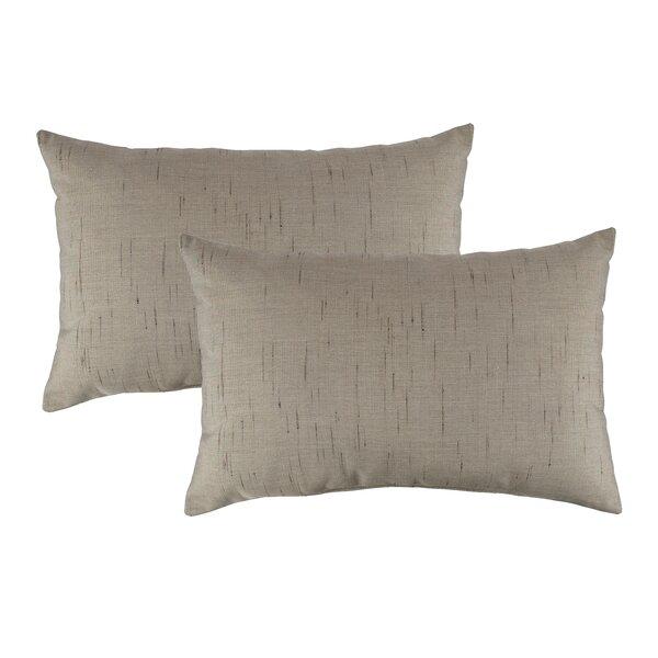 Frequency Outdoor Sunbrella Lumbar Pillow (Set of 2) by Austin Horn Classics