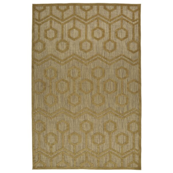 Shirehampton Light Brown Indoor/Outdoor Area Rug by Wrought Studio