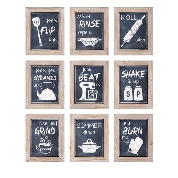 9 Piece Kitchen Inspirations Wall Decor by Woodland Imports
