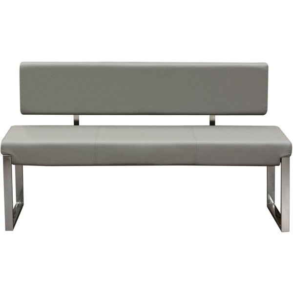 Ginnie Faux Leather Bench by Orren Ellis