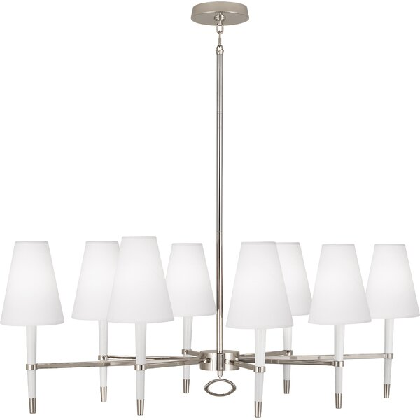 8 - Light Shaded Classic Chandelier by Robert Abbey Robert Abbey