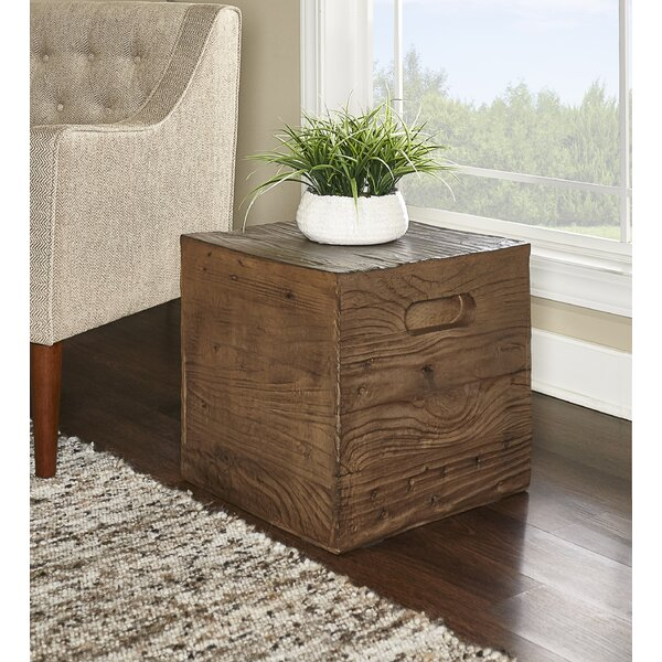 Woodsburgh Crate Accent Stool by Millwood Pines