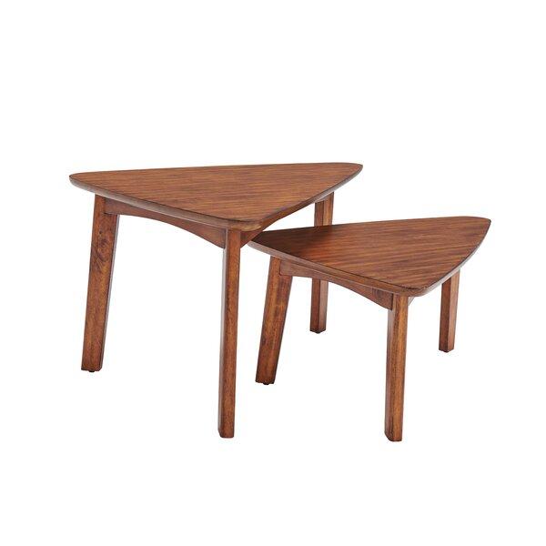 Review Coldiron 2 Piece 3 Legs Nesting Tables