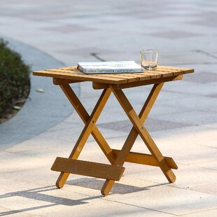 Looking for Chartier Folding Wood Side Table By Highland Dunes