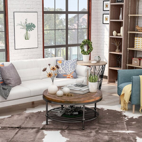 Foti Frame Coffee Table With Storage By Williston Forge