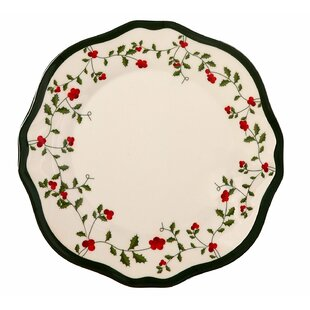 Holiday Berry Melamine Dinner Plate (Set of 36)  sc 1 st  Wayfair & Acrylic u0026 Melamine Christmas Plates u0026 Saucers Youu0027ll Love