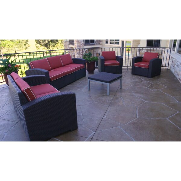 Loggins 5 Piece Sofa Seating Group with Cushions by Brayden Studio