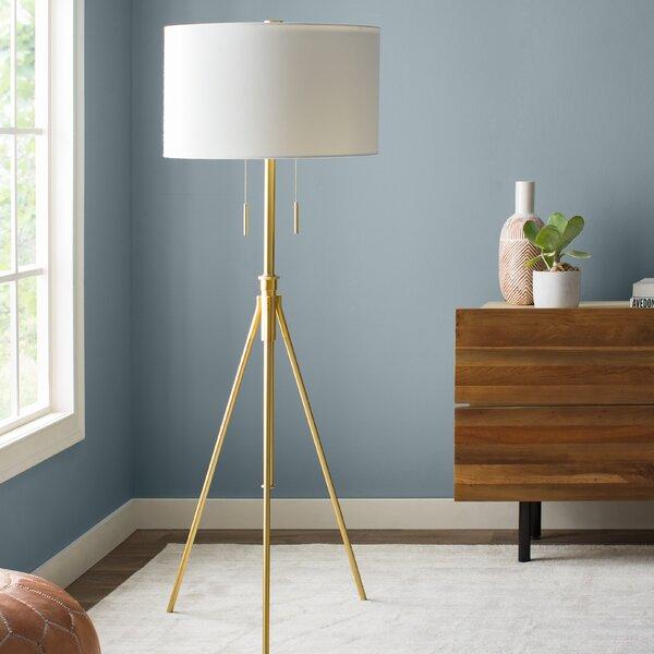 Mantis Brass 71.75 Tripod Floor Lamp by Decorator's Lighting