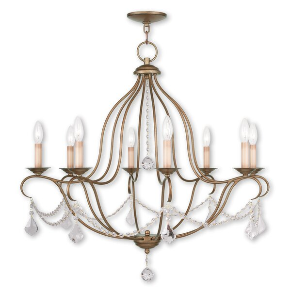 Bayfront 8-Light Candle Style Empire Chandelier with Crystal Accents Accents by Astoria Grand Astoria Grand