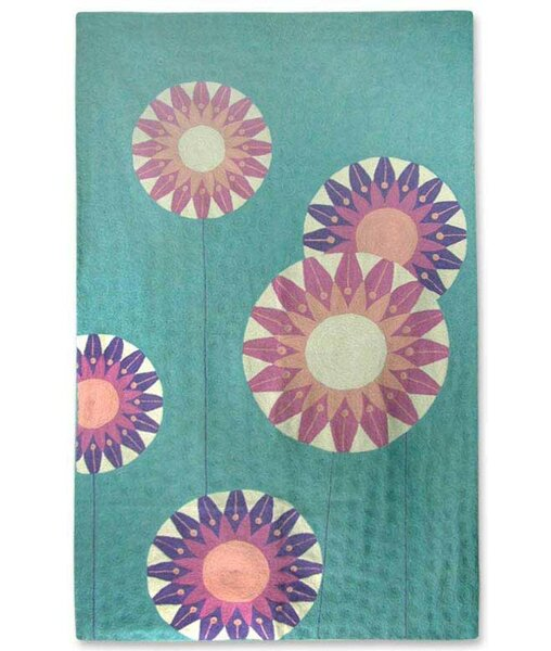 Pink/Blue Area Rug by Novica