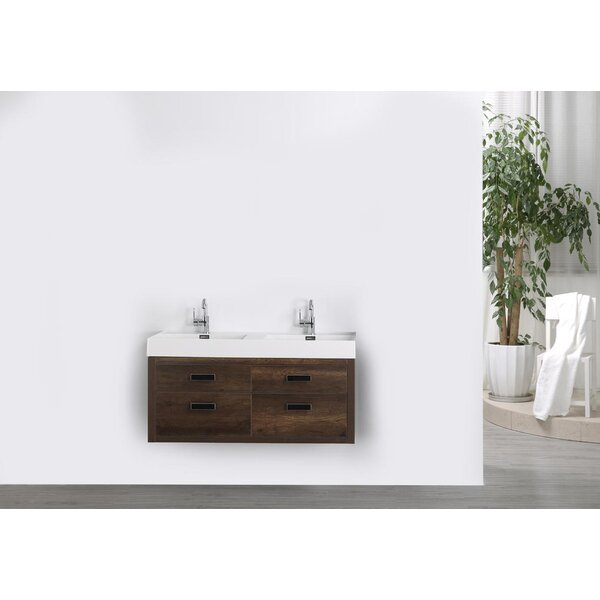 47 Wall Mounted Single Bathroom Vanity Set by Streamline Bath