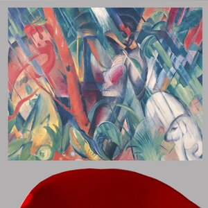 1912 'In the Rain' by Franz Marc Oil Painting Print Poster by Ebern Designs