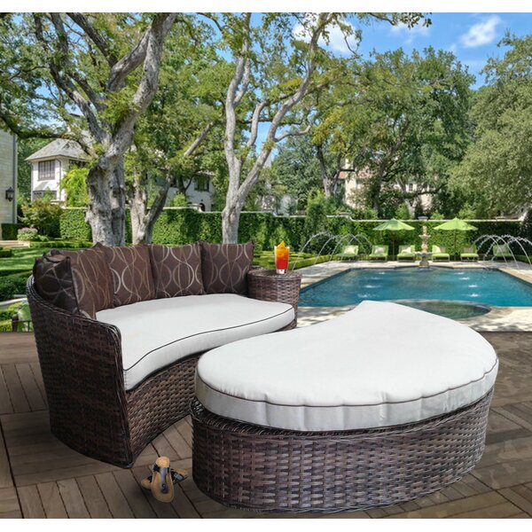 Duran Deluxe Patio Daybed with Cushions by World Menagerie