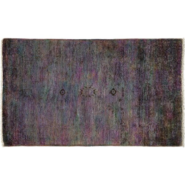 One-of-a-Kind Vibrance Hand-Knotted Purple Area Rug by Darya Rugs