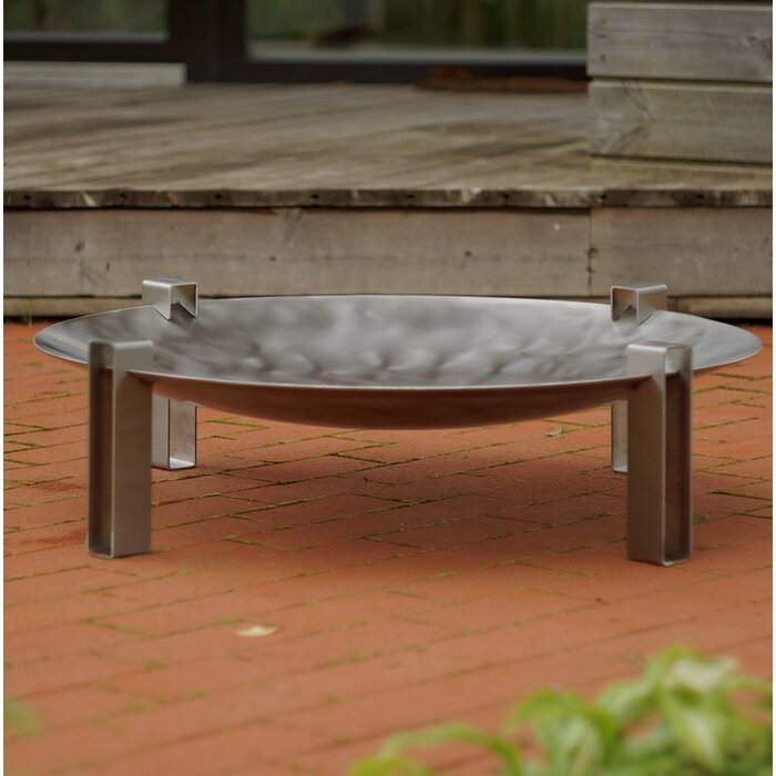 Curonian Alna Stainless Steel Wood Burning Fire Pit Wayfairca